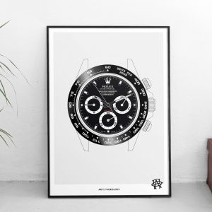 Rolex Daytona Watch Art Print